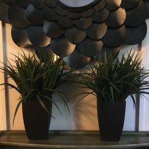 2 brand new beautiful or artificial plants.